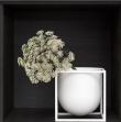 by Lassen - Kubus Flowerpot 14, hvit metall