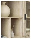 Kave Home Alen Bokreol - Hvitpigmentert Akasiefinér, H166