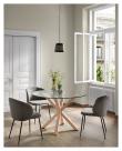 Kave Home Minna Spisebordsstol - Sort/Mørk Grå