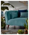 Kave Home Olost 3-seter Sofa - Grøn Velur