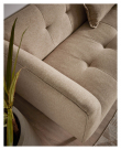 Kave Home Saffron 3-seter Sofa - Brun