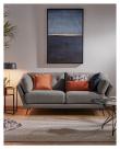 Kave Home Sahira 3-seter Sofa - Mørk grå