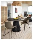 Kave Home Suanne Spisebordstol - Gråbrun Fløyel