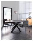 Kave Home Vashti Spisebord - Sort, Ø120/Ø160