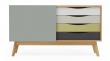 Woodman - Avon Skjenk m/fargede skuffer - Abbey