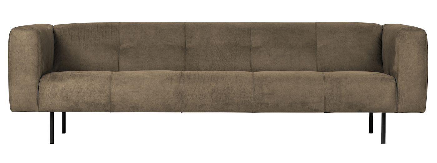 Skin 4-seter Sofa - Olivengrønn Lær
