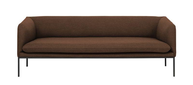 ferm LIVING - Turn Sofa 3 - Fiord - Solid Rust