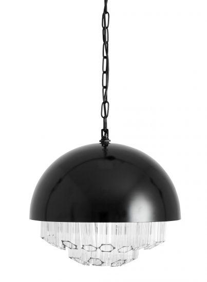 Nordal Chandelier Pendel - Sort m. Glass, Ø40