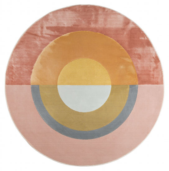 Flip The Rainbow Teppe - Rosa/Gul, Ø240
