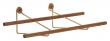 We Do Wood Shoe Rack Small - Eik/Messing