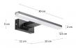 Kave Home Vissia LED Vegglampe S - Sort