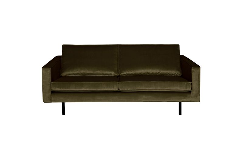 BePureHome - Rodeo 2,5 pers. sofa fløyel - Hunter green