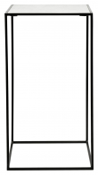 Nordal Cube Sidebord L - Hvit Marmor