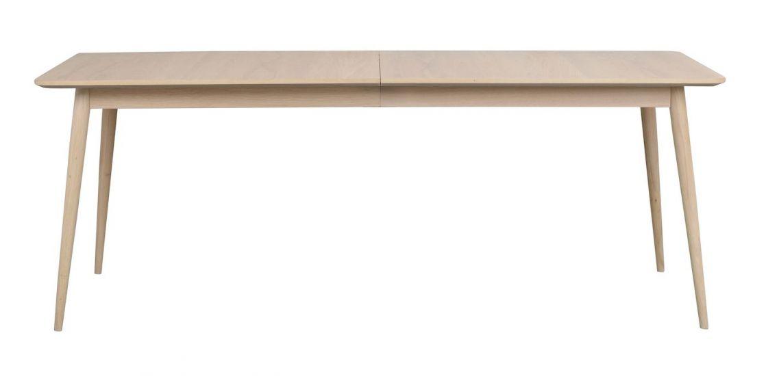 Dawsone Spisebord, Hvitvasket eik, 200x90
