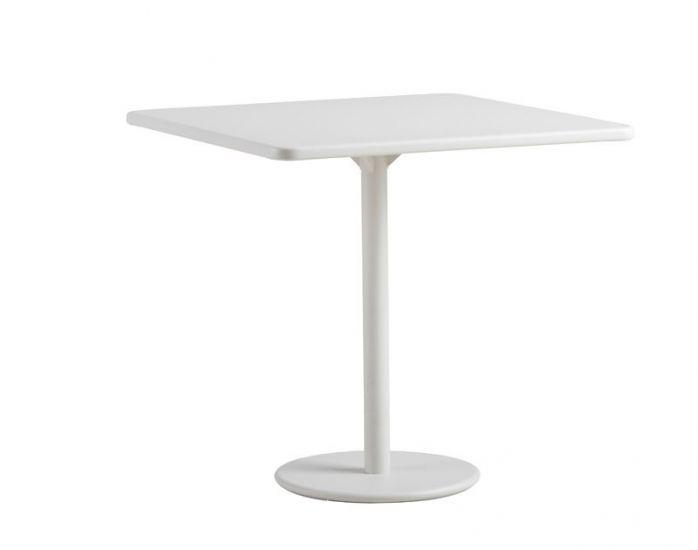 Cane-line - GO Cafebord i Hvit alu. 75x75