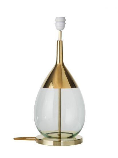 Ebb&Flow - Lute lampefot, grønn/Gull, Gull base