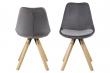 Fryd Spisebordsstol m/centerben - Mørk grå