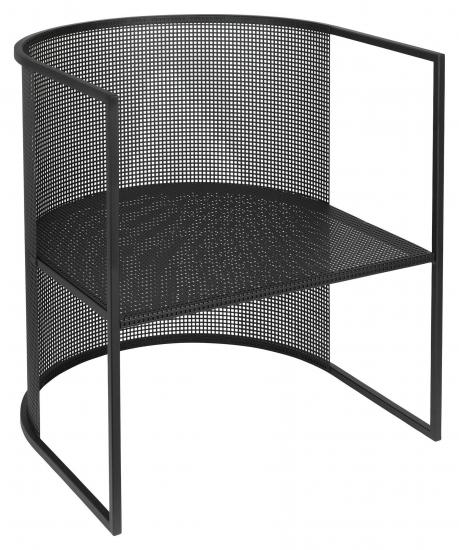 Kristina Dam Studio Bauhaus Lounge stol, Sort