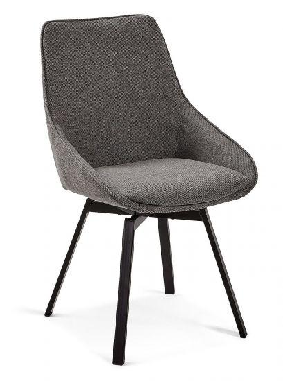 Kave Home - Haston Spisebordsstol - Mørk grå