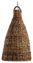 Trapezium Pendel - Abaca Natur, Ø80