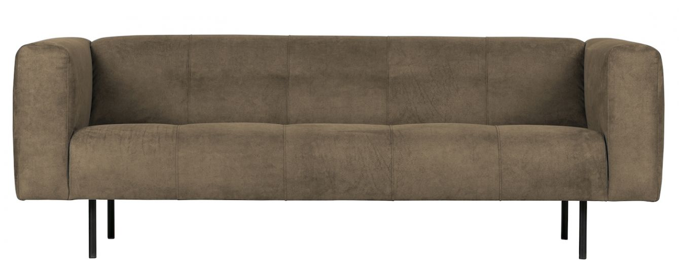 Skin 2,5-seter Sofa - Olivengrønn Lær