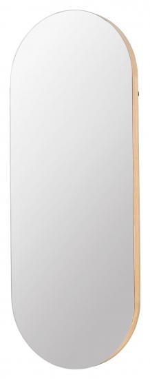 Alva Speil Oval - Eik/Glas