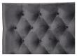 Furuvik sengegavl, Mørkegrå velour, B:180