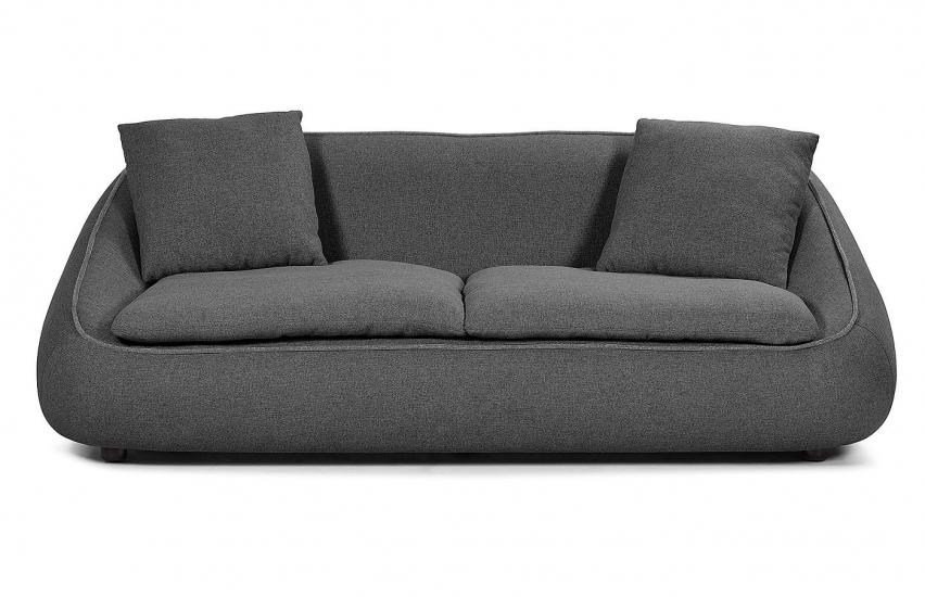 Kave Home Safira 3-seter Sofa - Mørk Grå