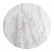 Bolzano Barbord - Hvit Marmor-look/Sort, Ø70