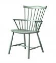 FDB Møbler - J52B Spisebordstol - Støvet grønn
