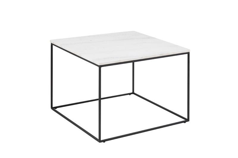 City Sofabord 60x60 - Hvit Guangxi marmor
