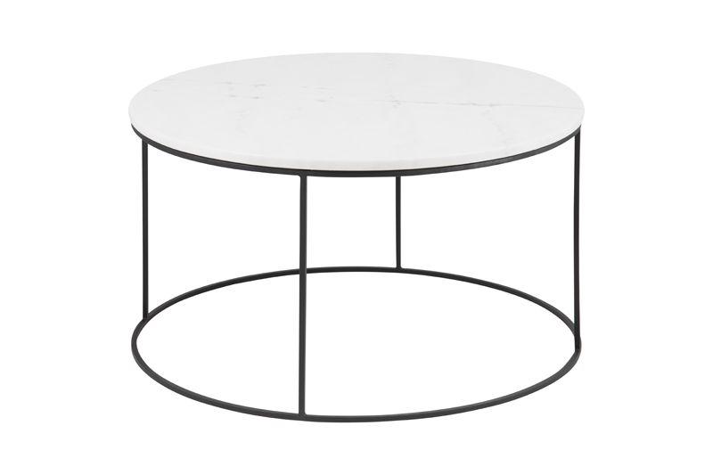 City Sofabord Ø80 - Hvit Guangxi marmor