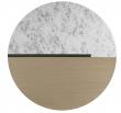 Temahome Sonata Sofabord - Hvid Marmor/Lys Eg, Ø80