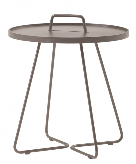 Cane-line - On-the-move Sidebord - Taupe - Ø52