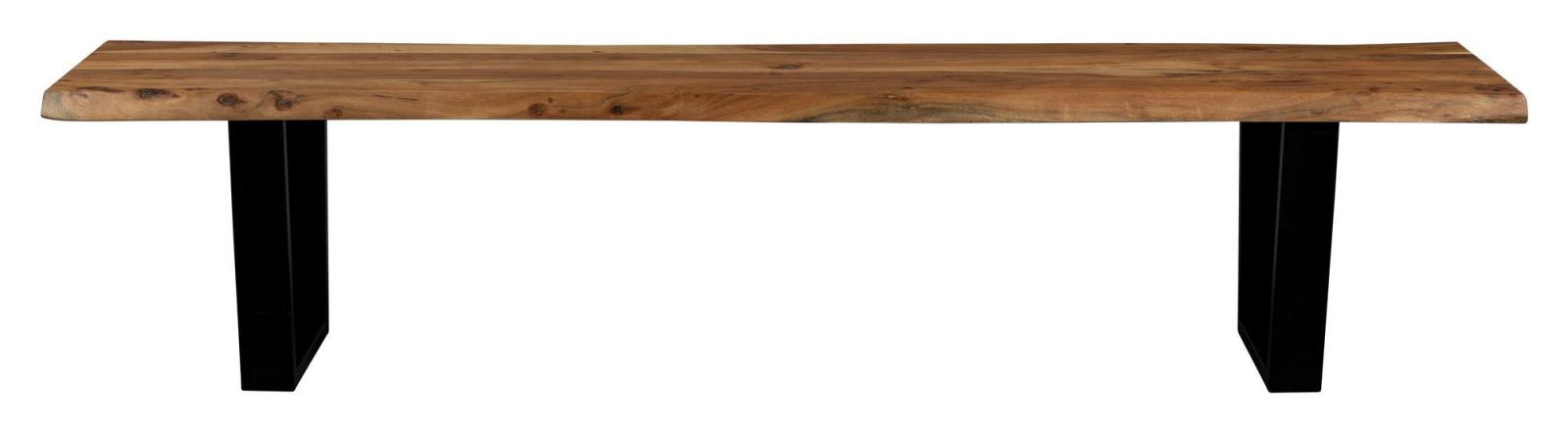 Dutchbone Aka Benk - Akasie/Sort, 180X45