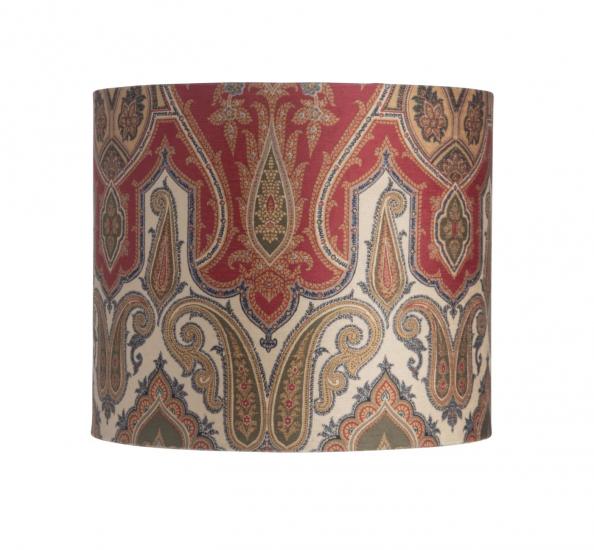 Ebb&Flow - Lampeskjerm, brocade, grønn/Gull, Ø35, bordlampe