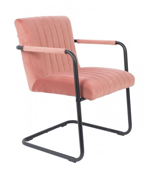 Dutchbone Stitched Spisebordstol - Pink