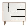 Andersen Furniture - S3 Høyskjenk - Eik såpe - Hvit