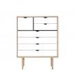 Andersen Furniture - S8 Kommode - Eik såpe - hvit