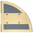 AYTM - Unity Speil 1/4 cirkel - Gyllen