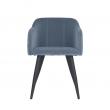 Broste Copenhagen - Pernille Spisebordsstol fløyel - Pastel Blue