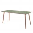 By Tika Skrivebord m. Linoleum - Oliven grøn