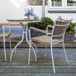 Cinas - Hard & Ellen Cafébord Ø80 - Hvit/teak