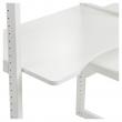 Hoppekids Storey Reol - 2 seksjoner m/4 Hyller, 80 cm Skriveplate og seng