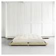 Dock Sengeramme Natur, Latex Futon madrass, Offwhite, 160x200