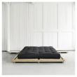 Dock Sengeramme Natur, Latex Futon madrass, Sort, 180x200