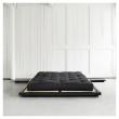 Dock Sengeramme Sort, Latex Futon madrass, Sort, 180x200