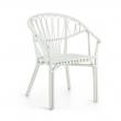 Kave Home - Corynn Spisebordsstol m. armlæn - Hvid