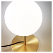 Kave Home Mahala Bordlampe - Hvit/Gylden