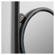 Kave Home Vianela m. 4 knagger - Sort/Guld, 50x35